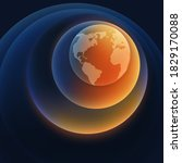 abstract planet earth gradient... | Shutterstock .eps vector #1829170088