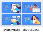 set of presentation slide... | Shutterstock .eps vector #1829182358