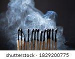 Burned  Extinguished Matches...