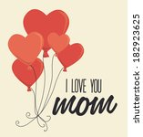 mothers day design over beige... | Shutterstock .eps vector #182923625