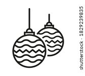 hanging christmas bauble icon... | Shutterstock .eps vector #1829239835