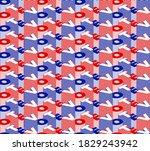 vote seamless pattern. vector... | Shutterstock .eps vector #1829243942