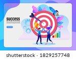 business teamwork winner...   Shutterstock .eps vector #1829257748