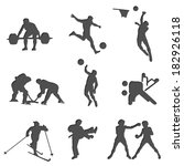 set athletes showing of sports  ... | Shutterstock .eps vector #182926118