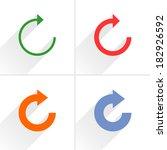 4 arrow icon. set 05. repeat ...