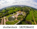 Aerial View  Golden Pagoda ...