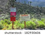 the warning signs at the... | Shutterstock . vector #182930606