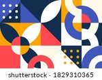 colorful abstract geometric... | Shutterstock .eps vector #1829310365