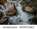 Rapid And Powerful Water Flow...