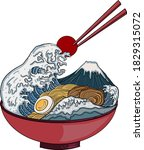 traditional japanese ramen and... | Shutterstock .eps vector #1829315072