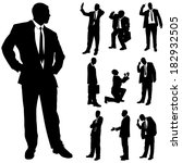 vector silhouette of business... | Shutterstock .eps vector #182932505