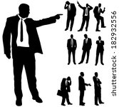 vector silhouette of business... | Shutterstock .eps vector #182932556