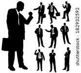 vector silhouette of business... | Shutterstock .eps vector #182932592