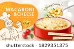 tasty macaroni and cheese ads... | Shutterstock .eps vector #1829351375