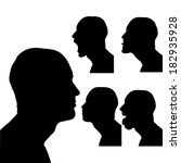 vector silhouettes man in...   Shutterstock .eps vector #182935928