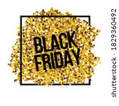 text black friday on gold...   Shutterstock .eps vector #1829360492