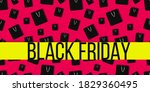 seamless pattern with black...   Shutterstock .eps vector #1829360495