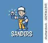 electrician retro mascot... | Shutterstock .eps vector #1829361545