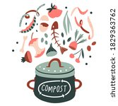food compost collection....   Shutterstock .eps vector #1829363762