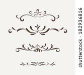 calligraphic design elements... | Shutterstock .eps vector #182936816