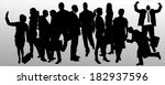 vector silhouette of business... | Shutterstock .eps vector #182937596