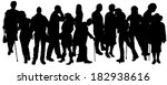 vector people silhouette on a... | Shutterstock .eps vector #182938616