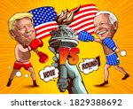 caricature cartoon of  donald...   Shutterstock .eps vector #1829388692