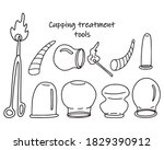 set of tools for cupping...   Shutterstock .eps vector #1829390912