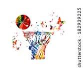 Colorful Vector Basketball Hoop ...