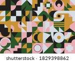 neo modernism artwork pattern... | Shutterstock .eps vector #1829398862