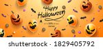 happy halloween banner  sale... | Shutterstock .eps vector #1829405792