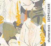 floral botanical vector... | Shutterstock .eps vector #1829411648