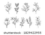 continuous line drawing set of... | Shutterstock .eps vector #1829422955