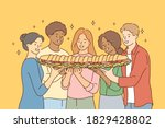 food  friendship  togetherness  ... | Shutterstock .eps vector #1829428802