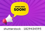 offer ends soon. background... | Shutterstock .eps vector #1829434595