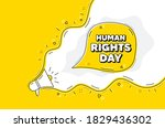 human rights day message....   Shutterstock .eps vector #1829436302