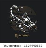 scorpio zodiac sign. zodiac ...   Shutterstock .eps vector #1829440892