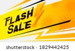flash sale yellow thunder speed ... | Shutterstock .eps vector #1829442425