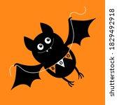 flying bat holding bunting flag ...   Shutterstock .eps vector #1829492918