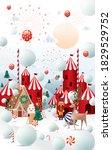 winter wonderland  white...   Shutterstock .eps vector #1829529752
