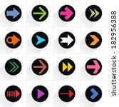 16 arrow flat icon with gray...