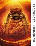Sinister Mummy With Burning...