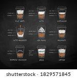 vector chalk drawn set of milk... | Shutterstock .eps vector #1829571845