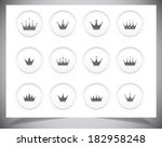 set of black simple crowns.... | Shutterstock .eps vector #182958248