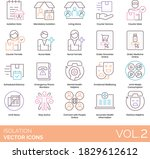 isolation icons including note  ... | Shutterstock .eps vector #1829612612