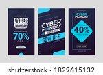 cyber monday sale social media...   Shutterstock .eps vector #1829615132