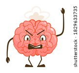 angry furious brain evil... | Shutterstock .eps vector #1829633735