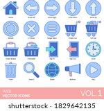 web icons including home  arrow ...