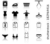 Clothes and laundry icons