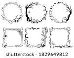 set of halloween frames.... | Shutterstock .eps vector #1829649812